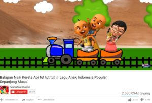 video youtube lagu anak populer 2016
