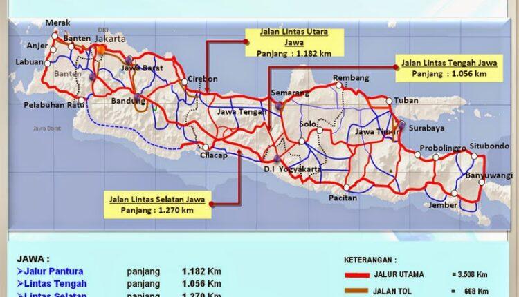 Kumpulan Peta Mudik 2017 Pantura dan Jalur Selatan