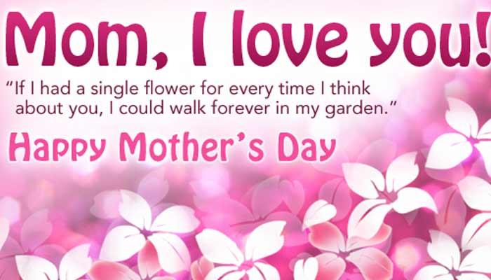 Desain Kartu Ucapan Untuk Hari Ibu dalam bahasa inggris warna pink