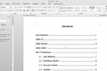 Cara Membuat Daftar Isi Otomatis Untuk Skripsi Makalah Atau