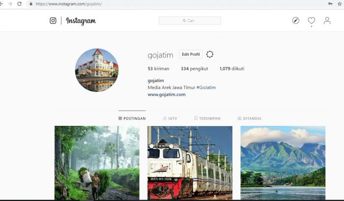 cara upload instagram gambar melalui PC