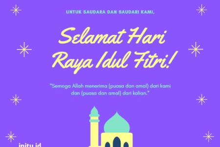 Tulisan Lebaran Contoh Kartu Ucapan Idul Fitri - kartu ...