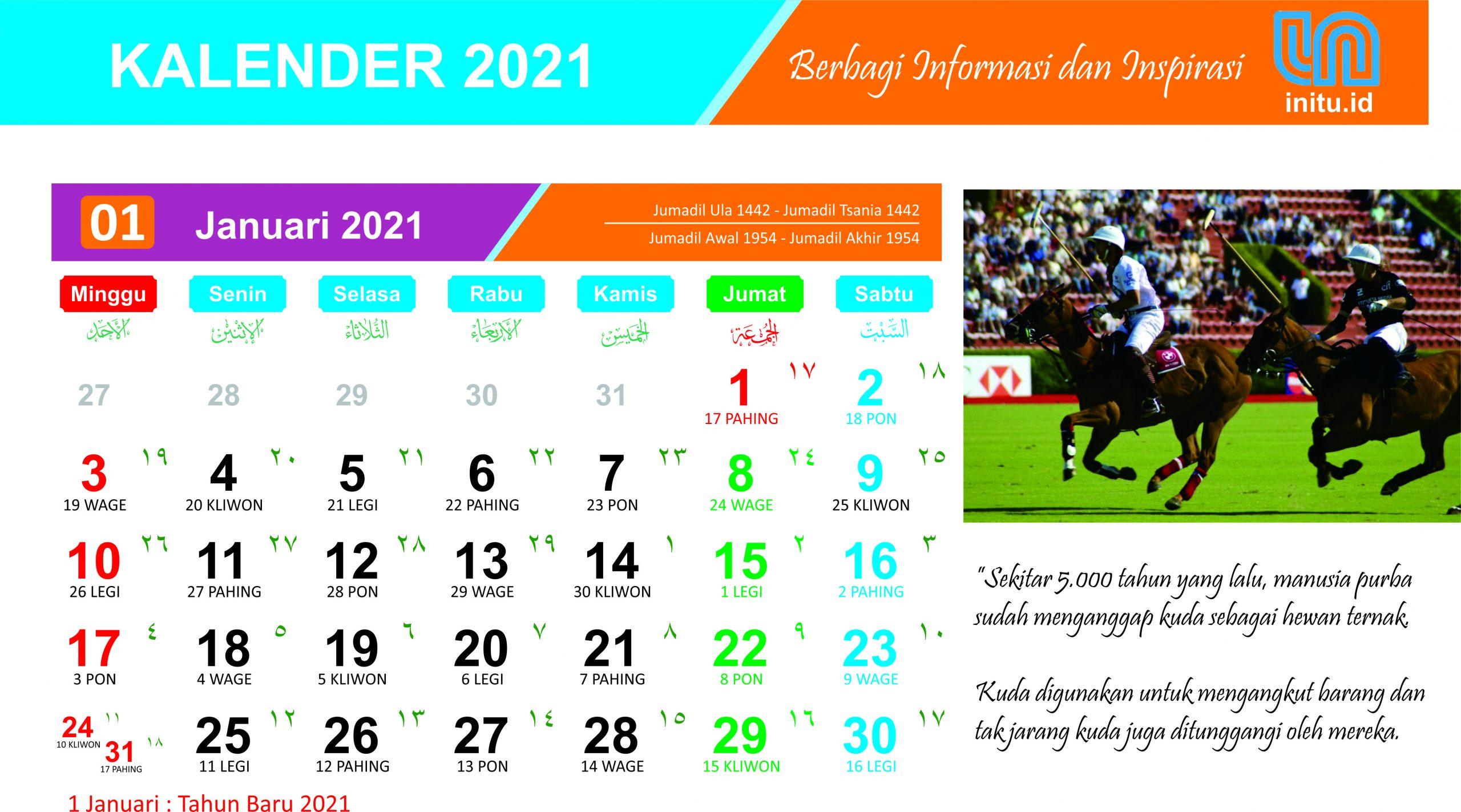 Download Template Kalender Baru 2021 dan 1442 Hijriah ...