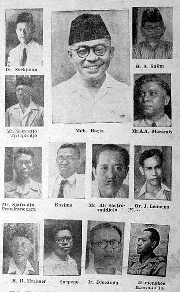 Susunan Kabinet Soekarno Hatta Pertama