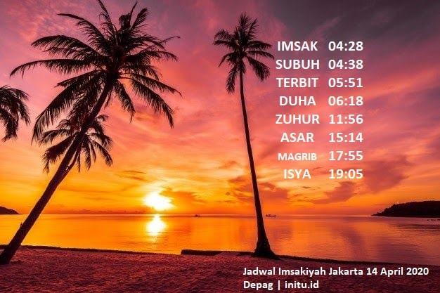 Jadwal Sholat Imsakiyah Jakarta 2 Ramadhan 1442 atau 14 ...