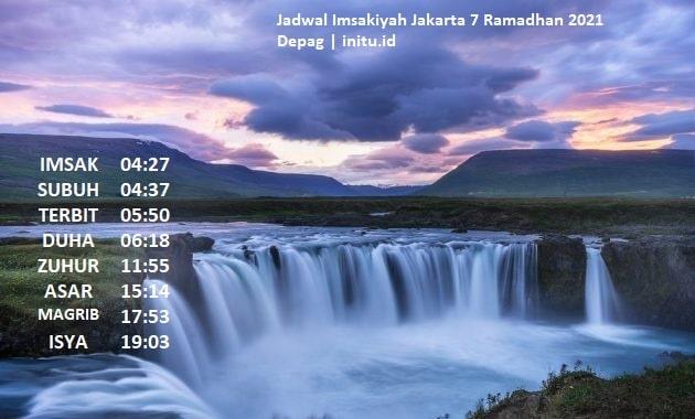 Jadwal Sholat Imsakiyah Jakarta 7 Ramadhan 1442 atau 19 ...