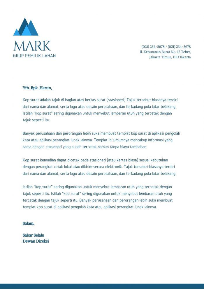 Contoh Kop Surat Elegant Untuk Perusahaan