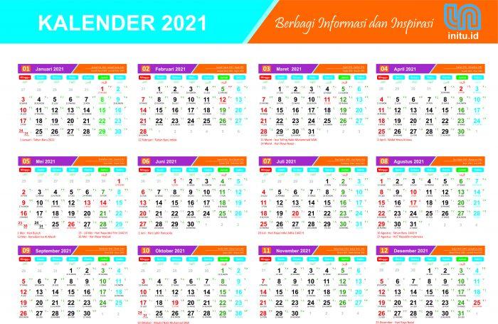 Download Template Kalender Baru 2021 dan 1442 Hijriah Lengkap CDR