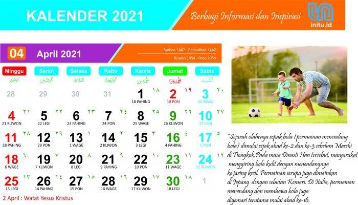 Download Kalender April 2021 Corel CDR